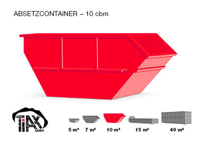 Absetzcontainer: 10 m³