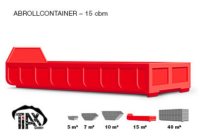 Abrollcontainer: 15 m³