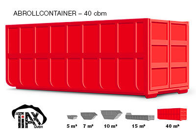 Abrollcontainer: 40 m³