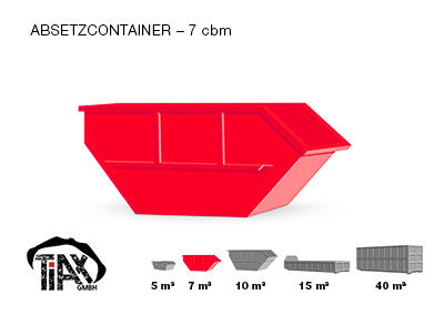 Absetzcontainer: 7 m³